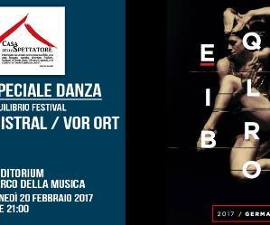 """Locandina: """"Mistral"""" e """"Vor Ort"""" - Speciale danza"""