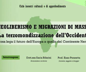 Locandina: Neoliberismo e migrazioni di massa