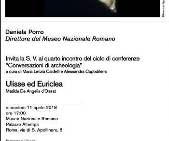Locandina: Conversazioni di archeologia