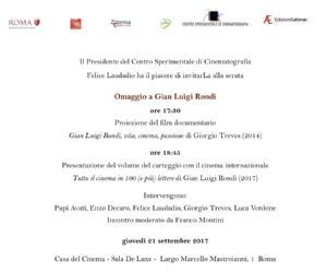 Altri eventi - Omaggio a Gian Luigi Rondi