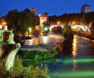 Locandina: L'Isola Tiberina, il Ghetto Ebraico, la Cabala e i sapori delle ricette della cucina tradizionale ebraico-romana