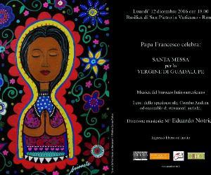 Locandina evento: Messa in onore di Nostra Signora Vergine di Guadalupe