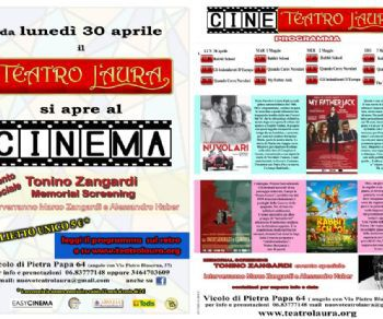 Locandina: Il Teatro L'Aura diventa Cine-Teatro da lunedì 30 aprile