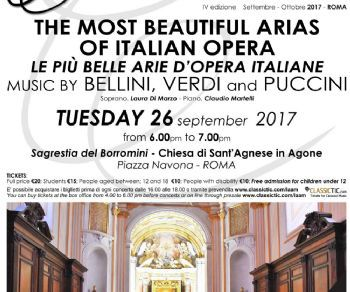 Concerti - Le più belle Arie d'Opera Italiana