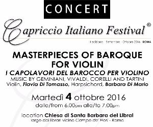 Locandina: I Capolavori del Barocco per violino