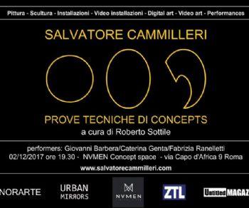 Mostre - Salvatore Cammilleri: Prove tecniche di concepts a cura di Roberto Sottile