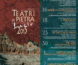 Locandina evento: Teatri di Pietra Lazio