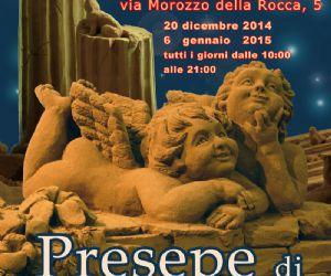 Locandina evento: Presepe di Sabbia di Roma a Casal Bertone. Terza edizione