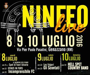 Locandina evento: Ninfeo Live 2016