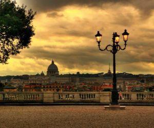 Locandina: Piazza del Popolo e la passeggiata del Pincio