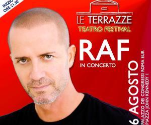 Locandina: Raf a Le Terrazze Teatro Festival