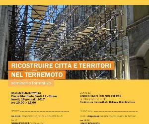 Locandina: La ricostruzione dopo il terremoto