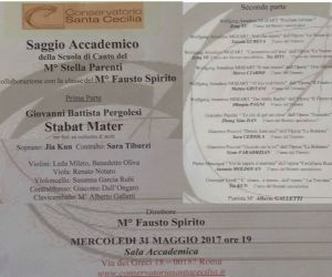 Locandina: Saggio Accademico della Scuola di Canto del M° Stella Parenti