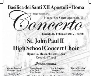 Locandina: St. John Paul II High School Concert Choir