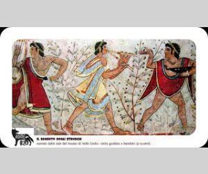 Locandina: Il segreto degli Etruschi narrato dalle sale del Museo Etrusco di Villa Giulia