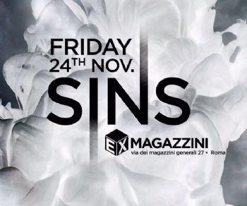 Serate - Sins 24 novembre agli Ex Magazzini