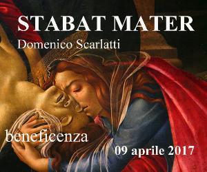 Locandina: Stabat Mater a 10 voci di Domenico Scarlatti