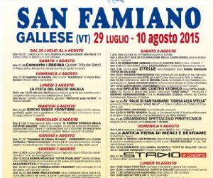 Locandina evento: Festa di San Famiano