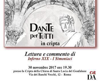 Locandina evento: Dante per tutti