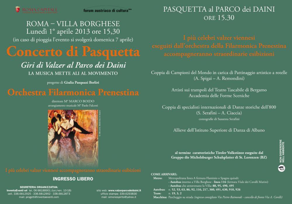 Evento Oggi Villa Borghese