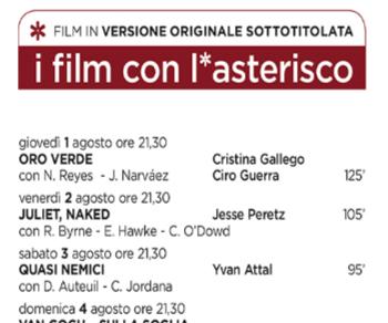 Rassegne - Arena Cinema Nuovo Sacher 2019