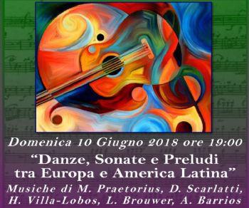 Musiche di M. Praetorius, D. Scarlatti, H. Villa-Lobos, L. Brouwer, A. Barrios
