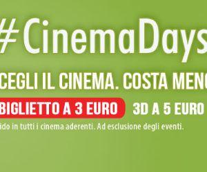 Dall'11 al 14 Aprile 2016 vai al cinema a soli €3 (€5 per i film in 3D)