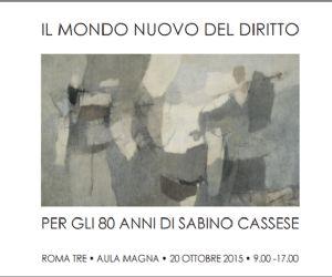 Per gli 80 anni di Sabino Cassese