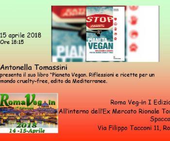 Antonella Tomassini presenta il libro a Roma Veg in