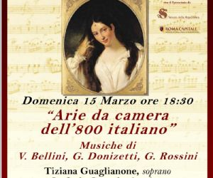 Concerti: Arie da camera dell'800 Italiano