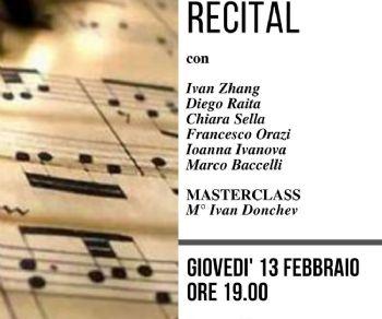 Recital degli allievi della Masterclass del docente  Ivan Donchev