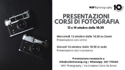 Serate: Presentazione corsi di fotografia