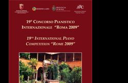 """Altri eventi: 19° CONCORSO PIANISTICO INTERNAZIONALE """"ROMA 2009""""  dal 14 al 29 ottobre 2009"""