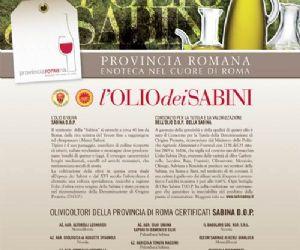 Altri eventi: Settimana di degustazione dell'Olio Sabina DOP Enoteca Provinciale di Roma fino al 6/12/2009