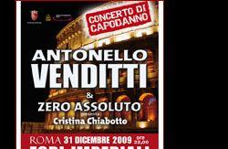 Altri eventi: CONCERTO DI CAPODANNO A ROMA ANTONELLO VENDITTI AI FORI IMPERIALI