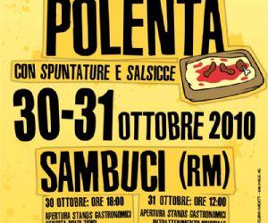 Altri eventi: Fuoti Roma: festa della polenta a Sambuci (RM) 30 e 31 ottobre 2010