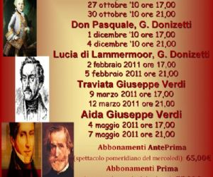Altri eventi: III stagione lirica al teatro Don Bosco di Cinecittà
