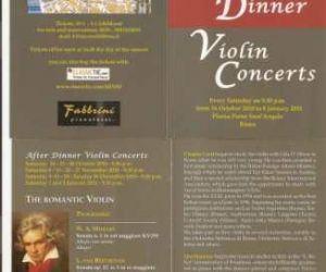 """Altri eventi: The Romantic Violin""""dal 16 ottobre 2010 fino a sabato 8 Gennaio 2011"""