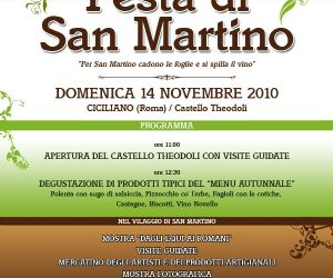 Altri eventi: FESTA DI SAN MARTINO a Ciciliano (Rm) 14 novembre 2010