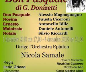 Altri eventi: Don Pasquale di G. Donizetti 1 e 4 dicembre Teatro Don Bosco