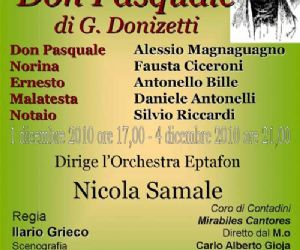 """Altri eventi: Il 1° dicembre torna l'AlfaMC con il """"Don Pasquale"""" di G. Donizetti"""