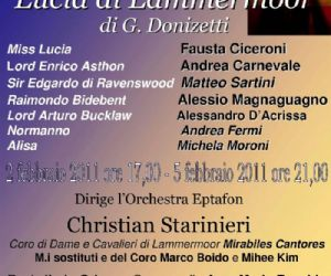 Altri eventi - Teatro Don Bosco, III Stagione lirica '10-'11 - 2 e 5 febbraio 2011