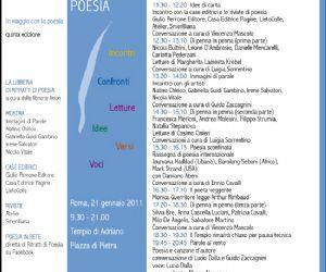 Altri eventi: Ritratti di Poesia, una giornata per viaggiare con la parola.  Roma, 21 gennaio, Tempio di Adriano