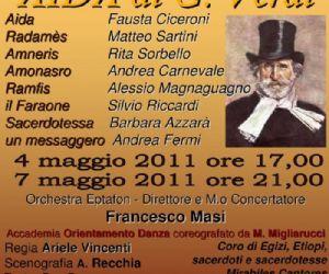 Altri eventi: AIDA di G. Verdi Teatro Don Bosco di Cinecittà in Roma 4 e 7 maggio