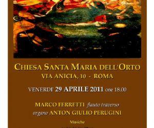 Altri eventi - IL BAROCCO: dal '600 ai nostri giorni. Chiesa di SANTA MARIA DELL'ORTO 29 APRILE 2