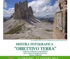 """Altri eventi: 21 giugno - 12 luglio Mostra fotografica """"Obiettivo Terra"""" Ufficio Relazioni con il Pubblico CFS"""