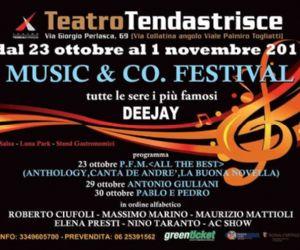 Festival - Music&Co. Festival dal 23 ottobre al 1 novembre al Teatro Tendastrisce