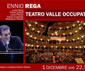"""Concerti - Ennio Rega suona al Teatro Valle di Roma brani tratti dal suo nuovo album """"Arrivederci Italia"""""""