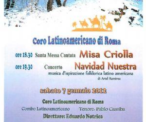 Concerti: Misa Criolla Santa Messa cantata e Concerto di Musica Latinoamericana