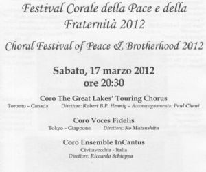 Concerti - Festival Corale della Pace e della Fraternità 2012